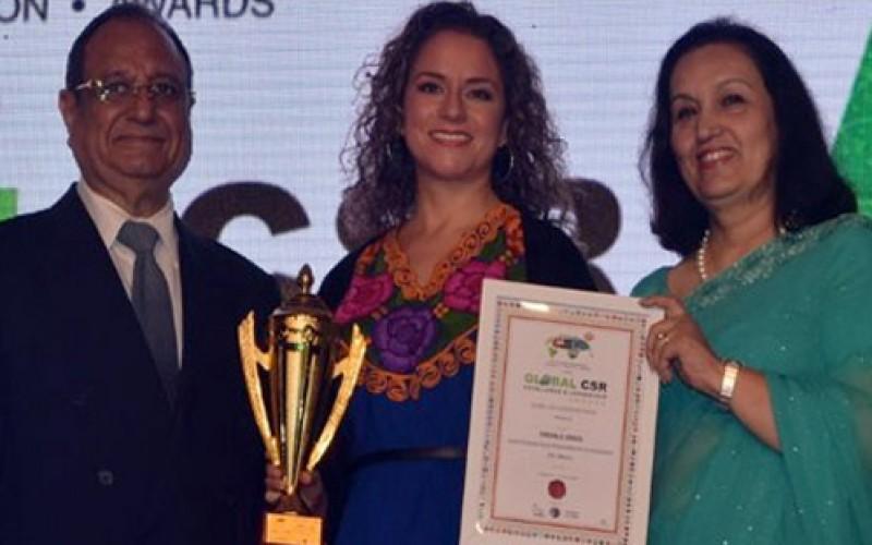 Mexicana galardonada por su liderazgo en Responsabilidad Social a nivel mundial