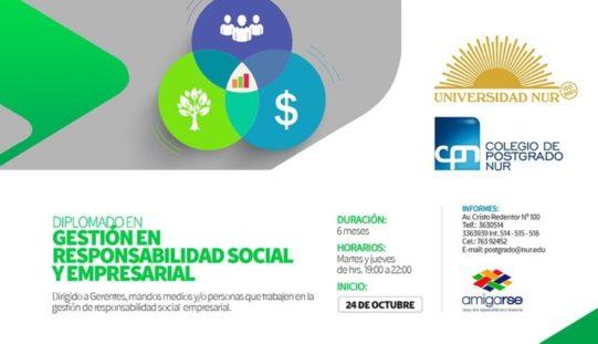 La Universidad NUR y AMIGARSE lanzan diplomado en Responsabilidad Social Empresarial (RSE)