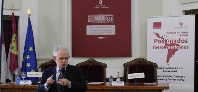 Antonio Argandoña imparte la conferencia inaugural de la edición 2018 de los Postgrados Iberoamericanos de Responsabilidad Social Empresarial y Gobernabilidad, Derechos Humanos y Cultura de Paz