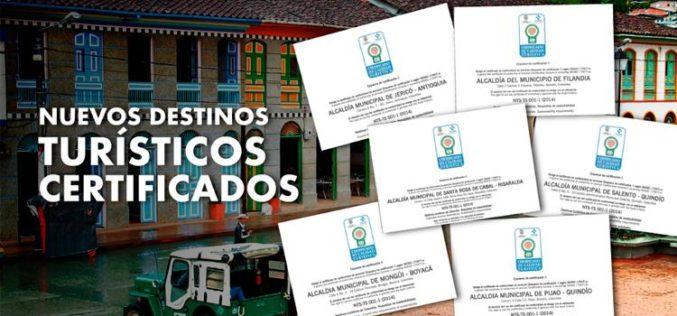 Colombia ya cuenta con seis nuevos destinos turísticos sostenibles certificados