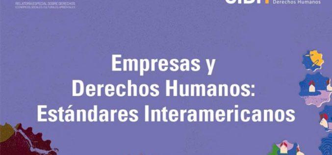 La CIDH publica informe temático sobre Empresas y Derechos Humanos