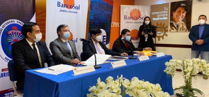 Bolivia: BancoSol y la UAGRM firman convenio que beneficia universitarios