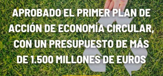 España aprueba el primer Plan de Acción de Economía Circular en torno a 8 ejes de actuación